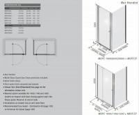 Matki-ONE Pivot Corner Shower Enclosure