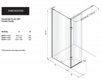 Matki Eauzone Plus Wet Room Panel With Hinge Panel (EWPH)