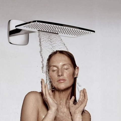 Hansgrohe E 430 Air 2 Jet Overhead Shower With Arm