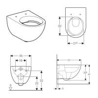 Geberit Acanto Wall Hung Toilet Rimfree