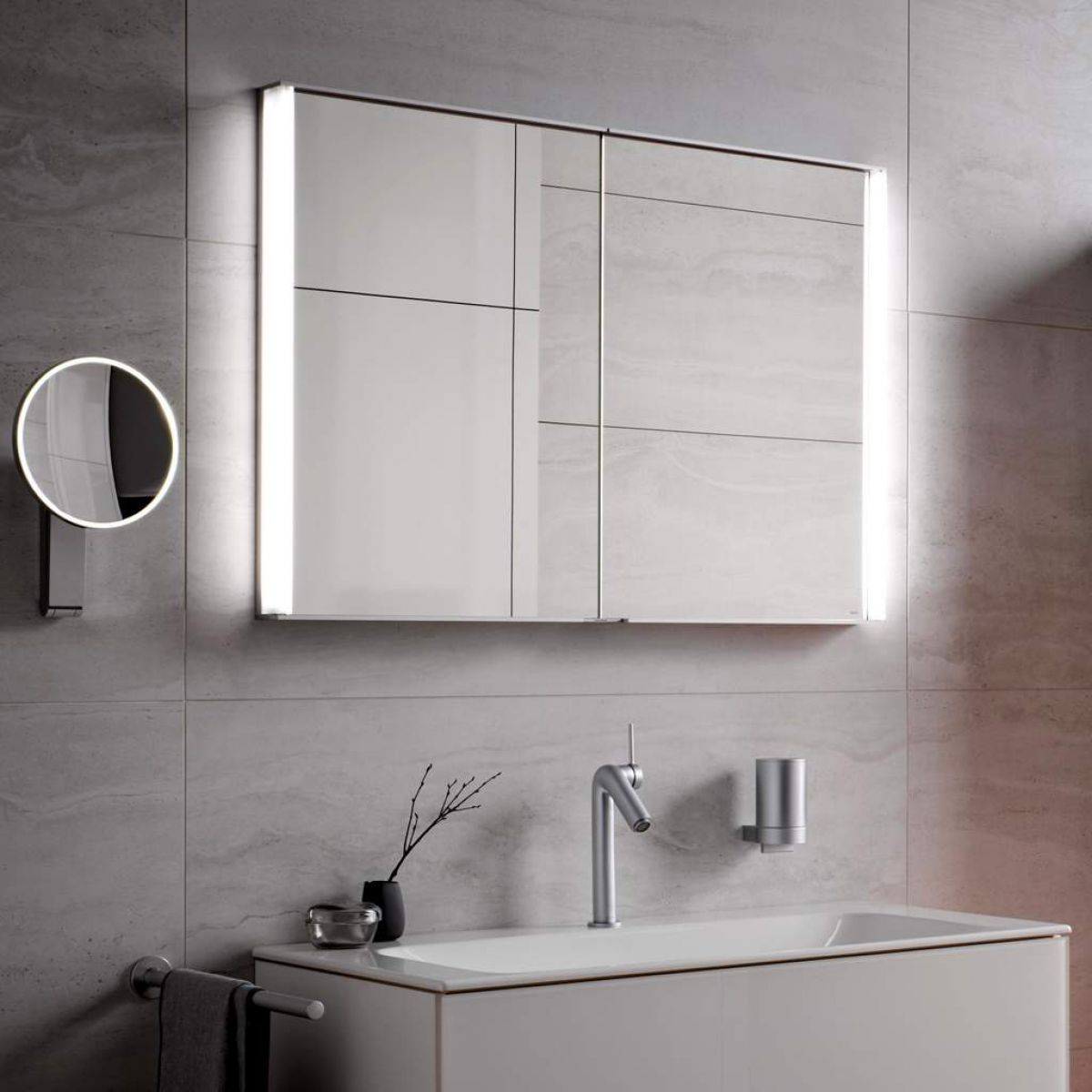Keuco Royal Match Semi Recessed Mirror Cabinet