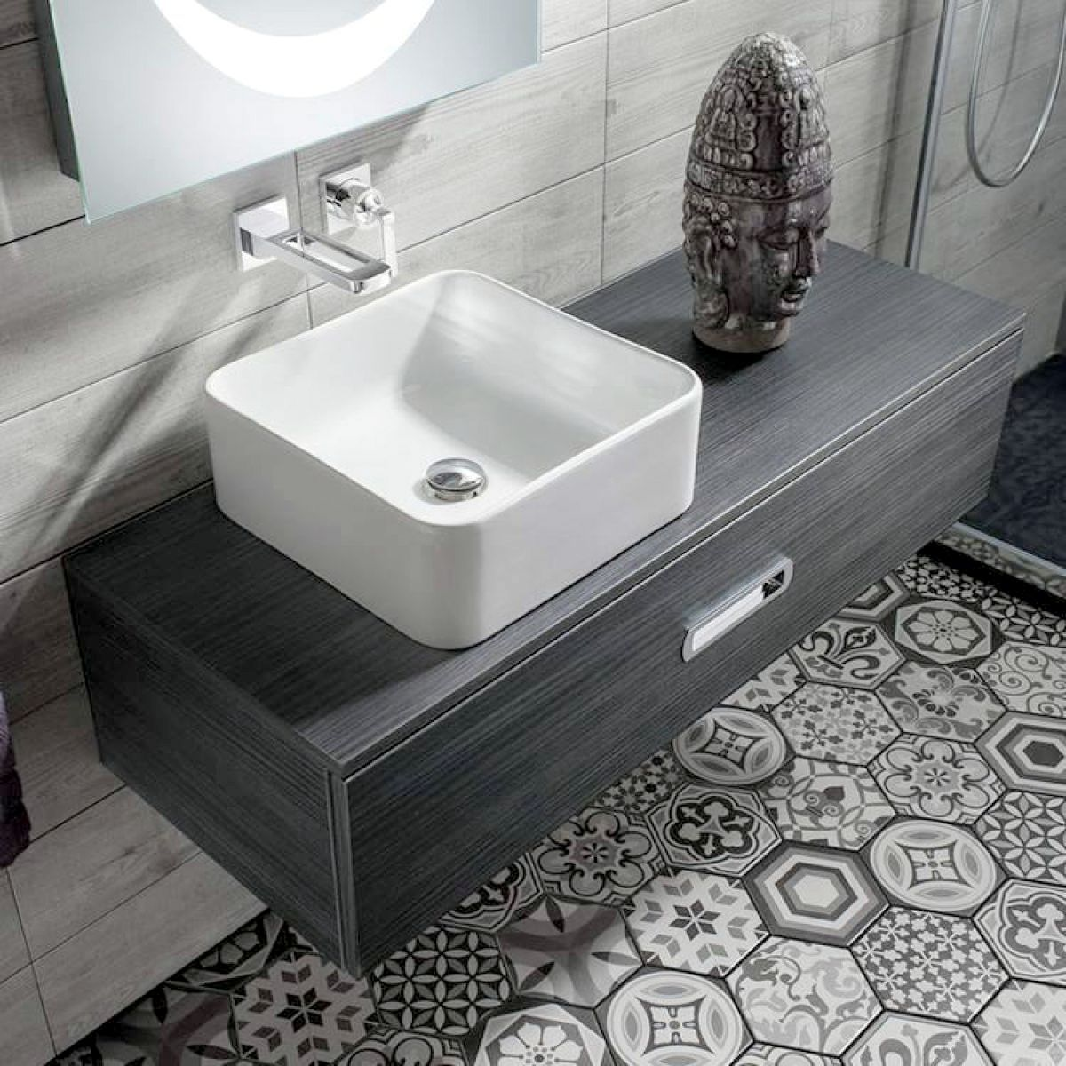 Bauhaus Seattle Single Drawer Basin Unit