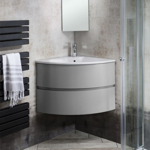 Crosswater Svelte Corner Unit With Mineral Marble Basin