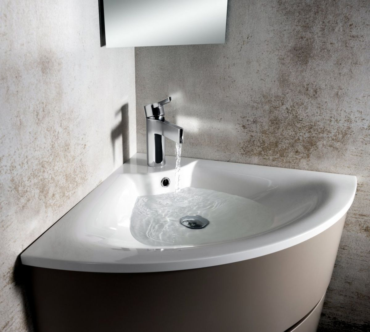 Bauhaus Svelte Corner Unit With Mineral Marble Basin