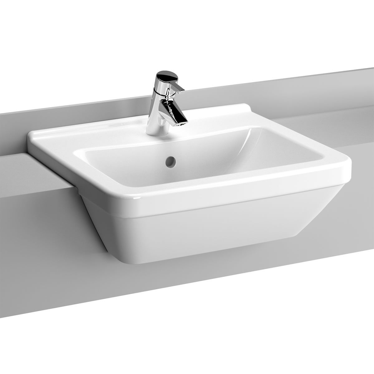 Vitra S50 Square Semi Recessed Washbasin