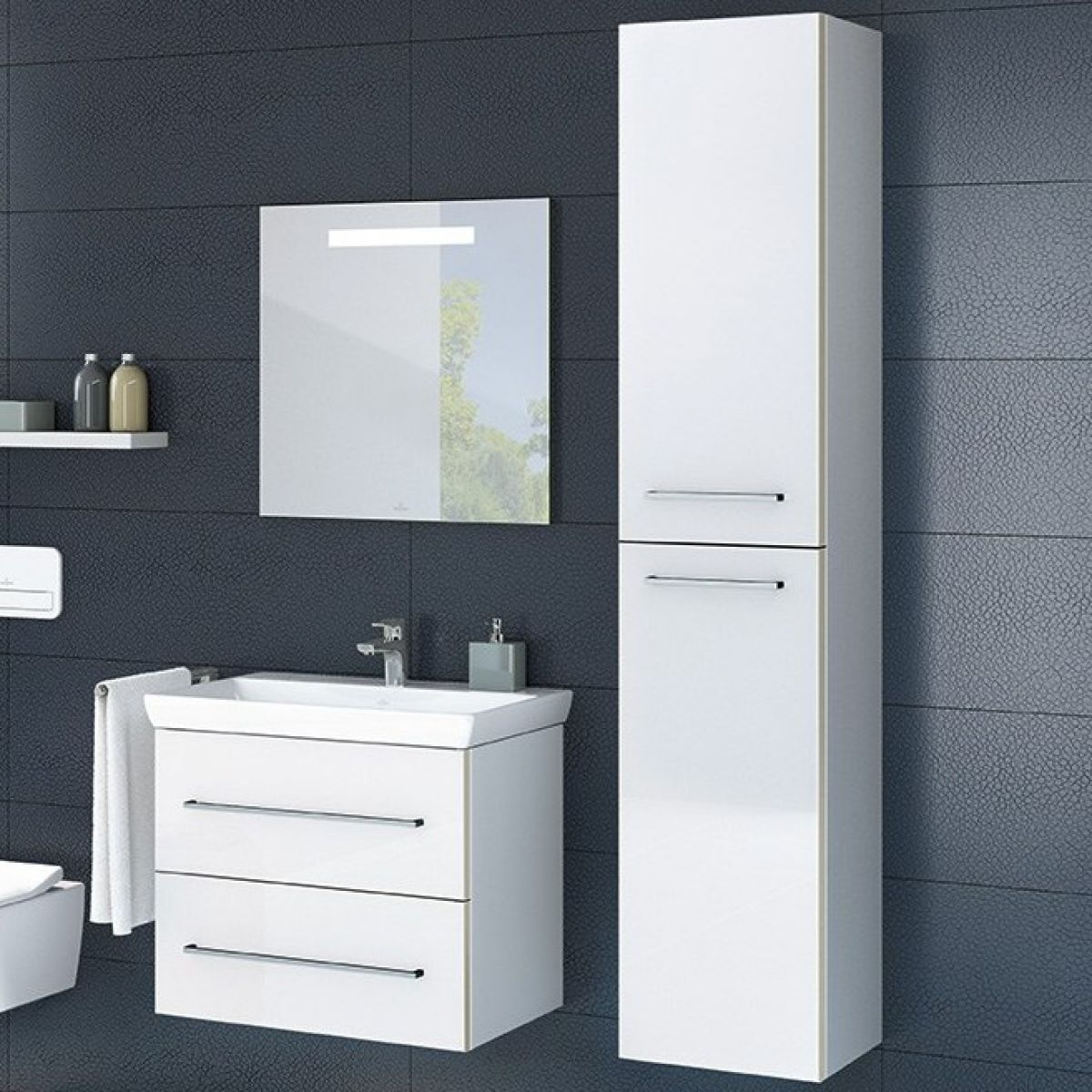 Villeroy & Boch Avento Tall Cabinet | Bathrooms Direct Yorkshire