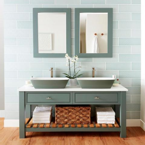 Burbidge Langton Double Washstand & Solid Surface Worktop