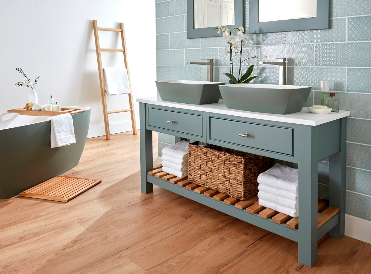 Burbidge Langton Double Washstand Amp Worktop Bathrooms