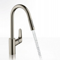 Hansgrohe Focus 240 Kitchen Mixer Tap With Pull-Out Spray