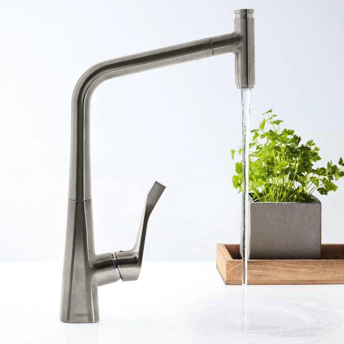 Hansgrohe Metris Select 320 Kitchen Mixer Tap With Pull-Out Spray ...