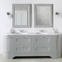 Burbidge Tetbury 2030mm Double Curved Vanity Unit & Worktop With Two Integral Basins