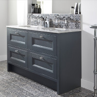Burbidge Tetbury 4 Drawer Vanity Unit & Worktop With Integral Basins