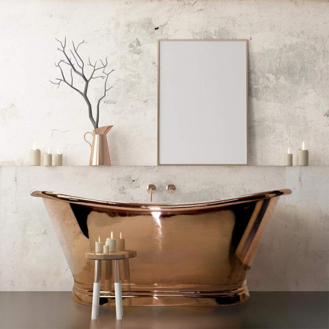 BC Designs Classic Roll Top Copper Boat Bath
