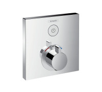 Hansgrohe Square ShowerSelect Concealed Valve with Raindance 300 Overhead Shower