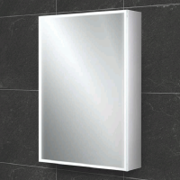 HIB Qubic 50 LED Aluminium Bathroom Cabinet