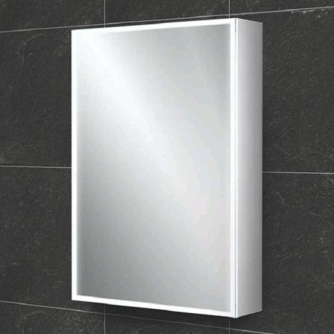 HIB Qubic 50 LED Aluminium Bathroom Cabinet
