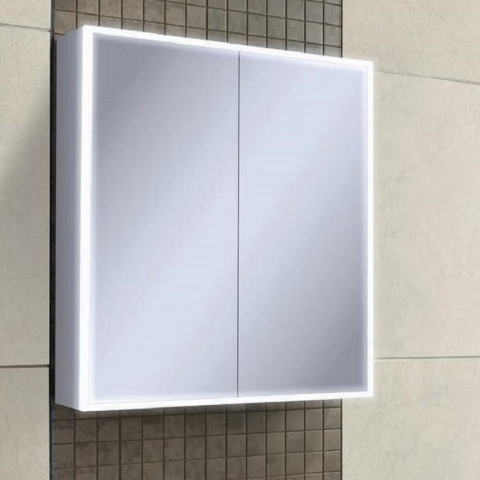 HIB Qubic 60 LED Aluminium Bathroom Cabinet