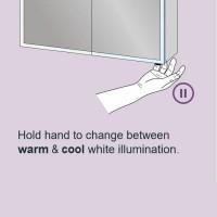 HIB Qubic 60 LED Aluminium Bathroom Cabinet