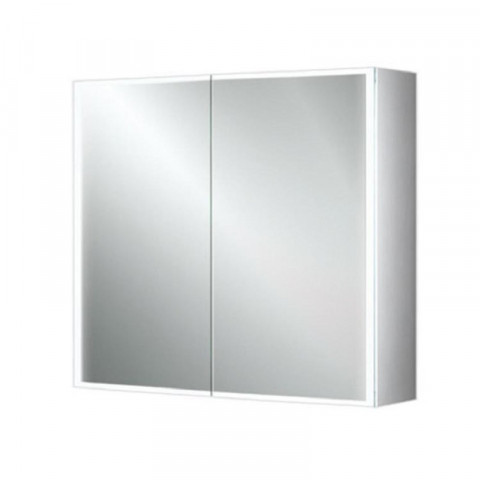 HIB Qubic 80 LED Aluminium Bathroom Cabinet