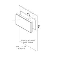 HIB Vanquish 120 LED Recessed Aluminium Cabinet