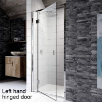 Kudos Pinnacle 8 Hinged Shower Door For Recess