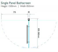 Kudos Inspire Single Panel Bath Screen