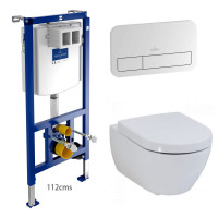 Villeroy & Boch Subway 2.0 Rimless Wall Hung Toilet and ViConnect Frame Pack
