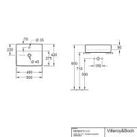 Villeroy and Boch Memento 2.0 Countertop Basin