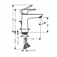 Hansgrohe Talis E 110 Basin Mixer