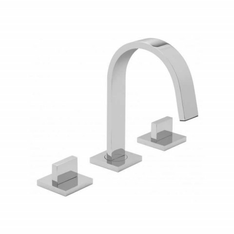 Vado Geo 3 Hole Basin Mixer Set