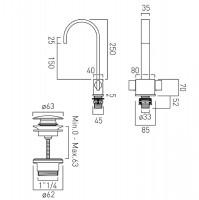 Vado Geo 2 Handle Mono Basin Mixer