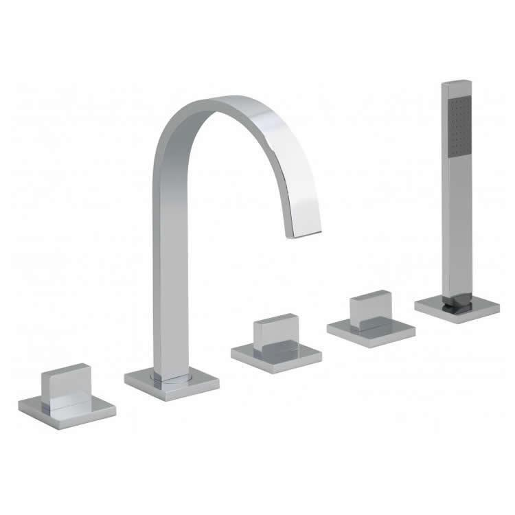 Vado Geo 5 Tap Hole Bath Shower Mixer