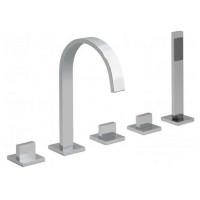 Vado Geo 5 Tap Hole Bath Shower Mixer