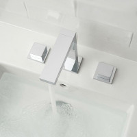 Vado Notion 3 Tap Hole Square Handle Basin Mixer
