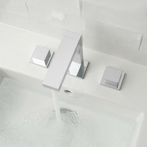 Vado Notion 3 Tap Hole Square Handle Basin Mixer
