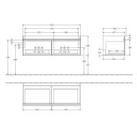 Villeroy & Boch Venticello Twin 2 Door Vanity Unit