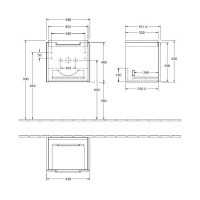 Villeroy & Boch Subway 2.0 Cloakroom 1 Drawer Vanity Unit