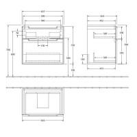Villeroy & Boch Subway 2.0 XXL 2 Drawer Vanity