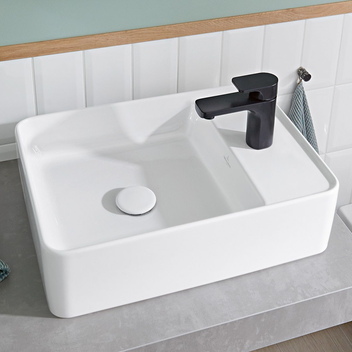Villeroy & Boch Collaro Rectangular Countertop Basin with Tapledge