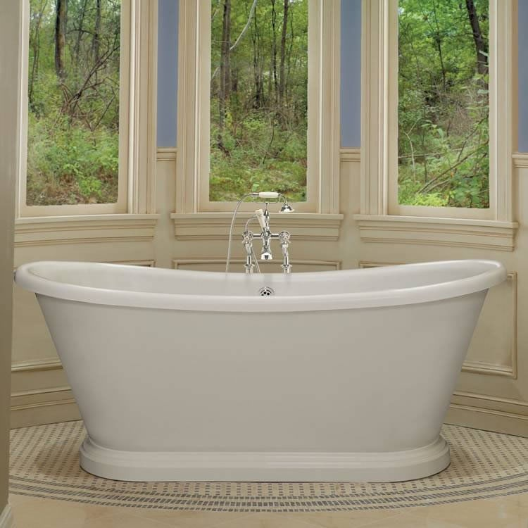 BC Designs 1800mm Acrylic Freestanding Boat Bath