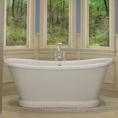 BC Designs 1800mm Acrylic Freestanding Boat Bath