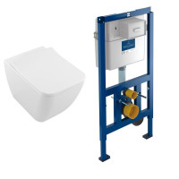 Villeroy & Boch Venticello Rimless Wall Hung Toilet and ViConnect Frame Pack