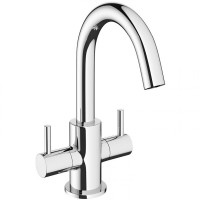 Crosswater MPRO Chrome Twin Lever Basin Mixer Tap