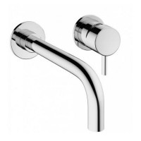 Crosswater MPRO Chrome 2 Hole Wall Basin Tap