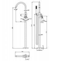 Crosswater MPRO Chrome Floorstanding Bath Shower Mixer