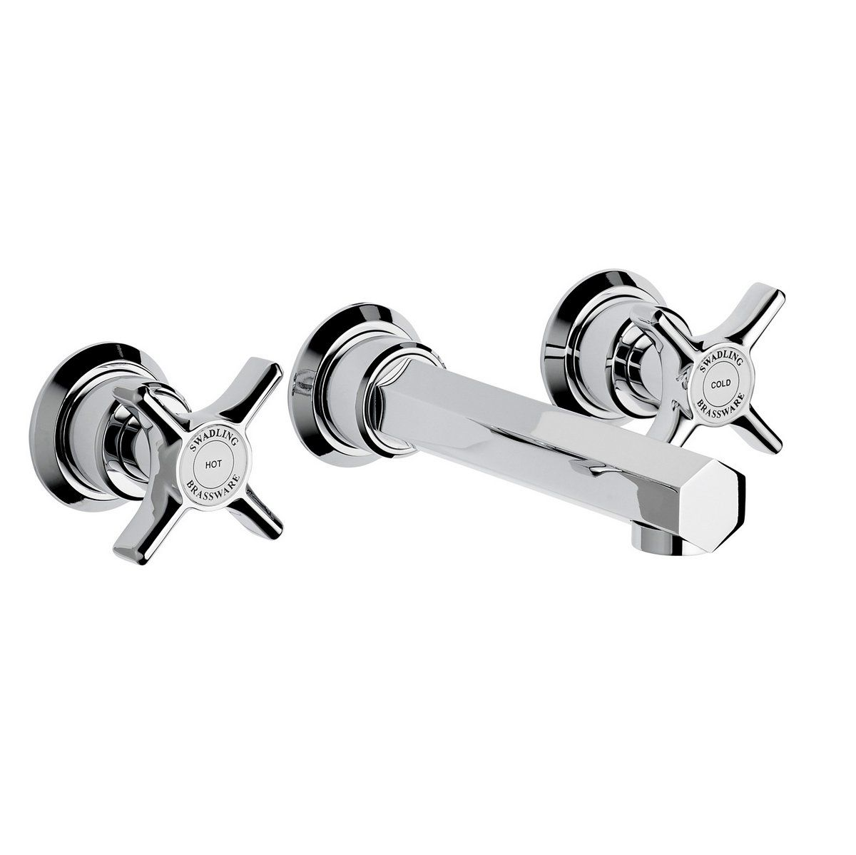 Swadling Illustrious 3 Hole Wall Mounted Basin Mixer