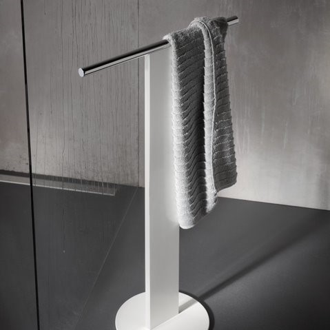 Keuco Universal Floorstanding Single Towel Rail