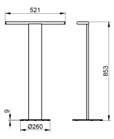 Keuco Universal Floorstanding Double Towel Rail