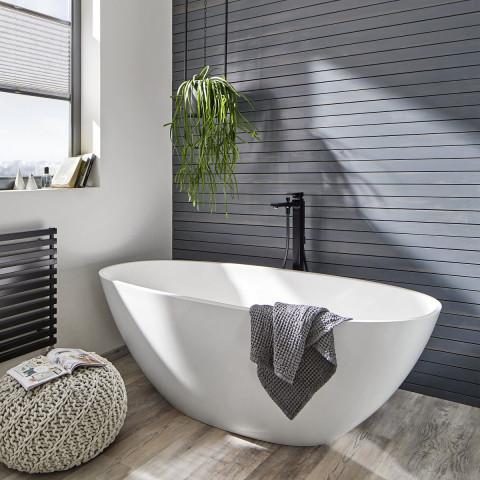 Hansgrohe Metropol Single lever floor standing bath shower mixer in Matt Black