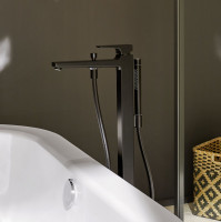 Hansgrohe Metropol Single lever floor standing bath shower mixer in Matt Black